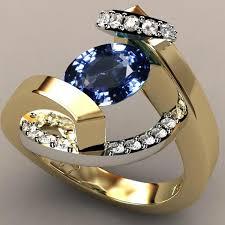 Women's <b>fashion creative</b> jewelry <b>925 sterling</b> silver 18K yellow gold ...