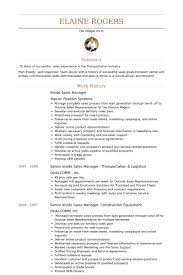 Inside Sales Manager Resume samples