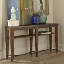 ginkgo sofa table with shelf and metal accents low guarantee badge by trisha yearwood home collection by klaussner