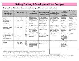 Employee Development Plans Templates Template Personal