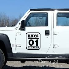 car stickers number customized rays engineering no 01 racing creative decals waterproof auto tuning styling
