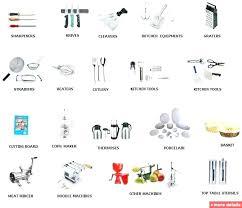 restaurant kitchen equipment list. Kitchen Utensils List Modern Art Tools And A Z . Restaurant Equipment