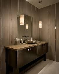 modern tiled modern bathrooms lights with stylish pendant lamps unique modern bathroom lighting wooden decoration over