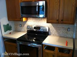 Travertine Kitchen Backsplash Split Face Travertine Tile Backsplash The Diy Village