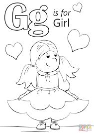 Letter G is for Girl coloring page | Free Printable Coloring Pages