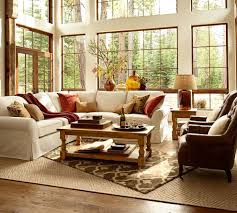 Pottery Barn Living Room Living Room With Barn Wood Flooring Simple Living Room Pottery