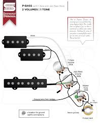 wiring diagrams seymour duncan part  p j bass jazz bass stack