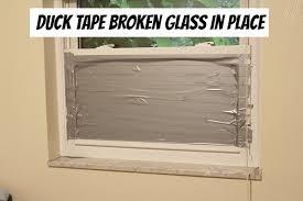 duck tape broken glass unlock your window