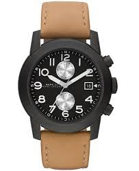 marc by marc jacobs men s chronograph larry light tan leather gallery
