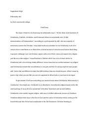 i chose to interview my dad for this essay simply because he is a 4 pages philosophy final essay
