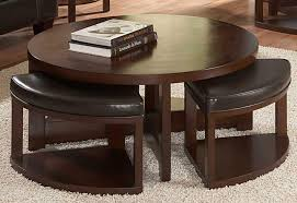 Beautiful Round Coffee Table With Stools Underneath Coffee Table Round  Coffee Table With Seats Underneath Design
