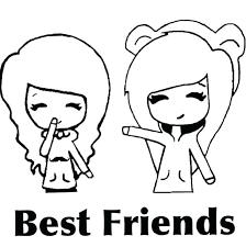 Anime Chibi Coloring Friendship Sweet Friend Wwwpicturesbosscom