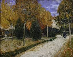 path in the park at arles painting vincent van gogh path in the park at