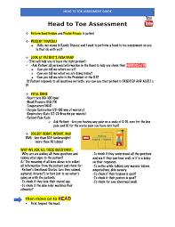 Head To Toe Assessment Guide Nur 3805 Fiu Studocu
