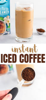 You can sprinkle some cinnamon powder on top too if you like the flavour of cinnamon. Instant Iced Coffee Instant Coffee Recipes Coffee Drink Recipes Iced Coffee Recipe Easy