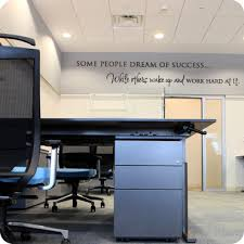 office wall decal. Some People Dream Of Success (Staggered Version) Office Wall Decal
