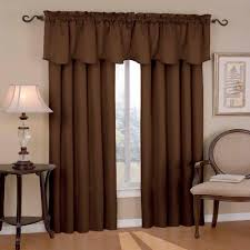 eclipse canova blackout chocolate polyester curtain valance 21 in length
