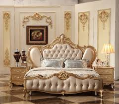 Latest Royal Bed Designs 2018 New Luxury Design Golden Royal Court Carving Leather