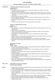 Sample Benefits Manager Resume Benefits Manager Resume Samples Velvet Jobs 1