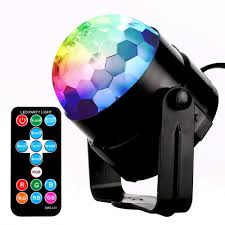 Rotating Disco Light Disco Lights Monejoy Disco Dj Lights 7 Colors Rotating Disco Sound Activated Stage Led Strobe Lights For Home Party Birthday Xmas Party Easter