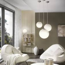 rondo large opal white glass globe pendant light