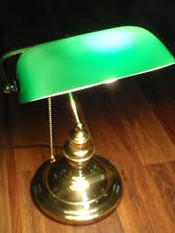 home decor vintage green glass banker s lamp by theurbanden