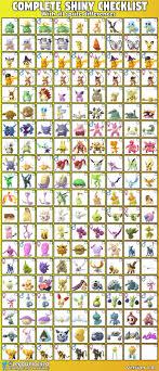 Shiny Pokemon Go Rarity Chart Www Bedowntowndaytona Com