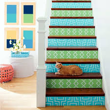 the staircase decorating ideas with paint leftover wallpaper and wall stickers staircase