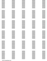 5 String Bass Chord Chart Printable Chord Chart For 5 String Instrument 12 Frets On