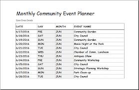 Event Coordinator Templates Community Event Planner Under Fontanacountryinn Com