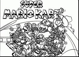 Mario Kart Coloring Pages Mario Kart Printable Coloring Pages Kart