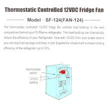 caravan white cooling fridge fan thermostatic controlled switch 12v manufacturer