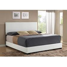 Ireland King Faux Leather Bed, White - Walmart.com