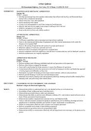 Apprentice Mechanic Resume Samples | Velvet Jobs
