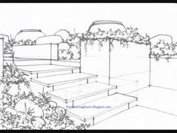 Small Picture how to draw a garden YouTube