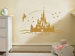 personalised princess castle wall art vinyl sticker wall childs nursery mural decal pink x on castle wall art mural with personalised princess castle wall art vinyl sticker wall childs