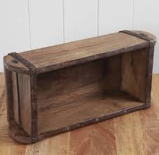 vintage brick mould wooden storage tool box small wood shelf antique crate case
