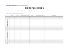 Blood Pressure Forms For Tracking Top Trend Blood Pressure Tracker Log Pdf Daily Week Journal To Track