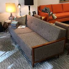 mid century modern furniture. Exellent Century Custom Mid Century Modern Sofa With Wood Arms Made In USA To Furniture S