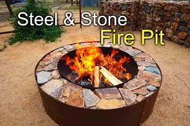 diy fire pit metal bowl in roman comrhcom luxury steel low boy inch rhmiuiksacom luxury diy