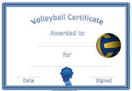 volleyball certificate template free volleyball certificate templates customize online