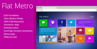 Metro Template Metro Website Templates From Themeforest