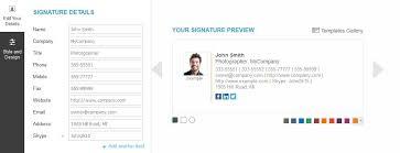 Email Signature Html Free Modern Html Email Signature Generators Bleery