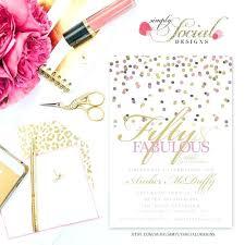 Birthday Invitation Template Printable Free Printable 50th