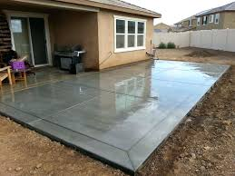 concrete backyard cost backyard cost poured patio polished cover up stamped overlay gray how to polished