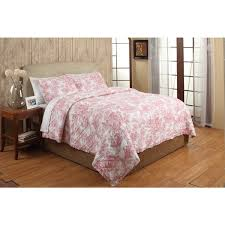 French Toile Red Cotton 3-piece Quilt Set - On Sale - Free ... & French Toile Red Cotton 3-piece Quilt Set Adamdwight.com