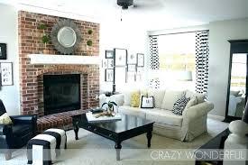red brick wall living room ideas with fireplace tiles decor fir