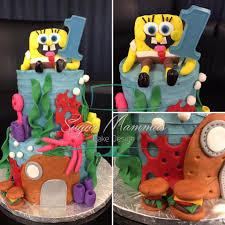 Spongebob Squarepants 2 Tiered Sugar Mammas Cake Design Facebook