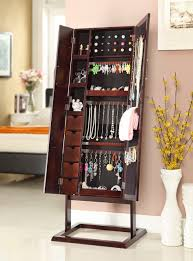 gold silver safekeeper jewelry cabinet with photo frame