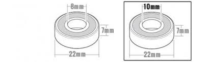 skateboard bearings dimensions. specials 10mm axles skateboard bearings dimensions e